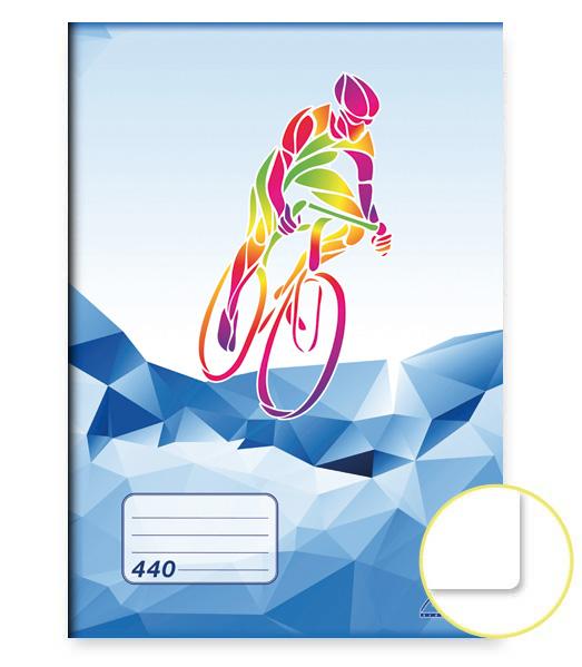 Zošit 440 • 40 listový • nelinkovaný • ŠPORT Cyklistika modrý